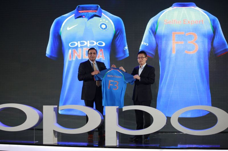 Brand partner, Oppo is appearing at the front of the jersey