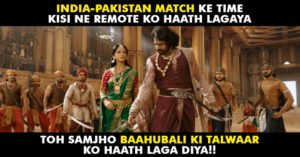 Bahubali during match