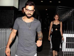 Virat Kohli and Anushka Sharma spotted together outside a hotel