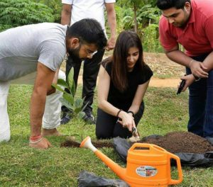 planting a sapling at the Aliya Resort and Spa in Sri Lanka 4