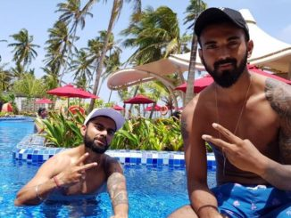 Virat Kohli enjoying in pool with KL Rahul