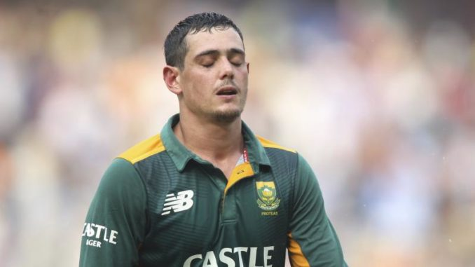 Quinton de Kock injury