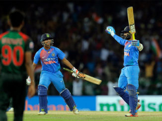 India's Dinesh Karthik gave victory to Team India by putting a six on the last ball of the match in Nidahas Trophy final